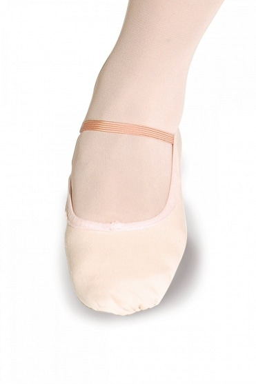 Full Sole Canvas Ballet Shoes - Wide Fit