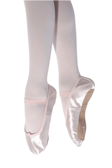 5273d0cdf643e Full Sole Satin Ballet Shoes - Regular Fit. Pale Pink · Ivory · White · Roch  Valley ...