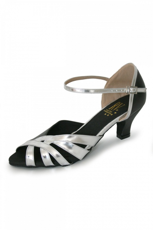 Roch Valley Ladies' Wide Fit Ballroom Shoes with Ankle Strap