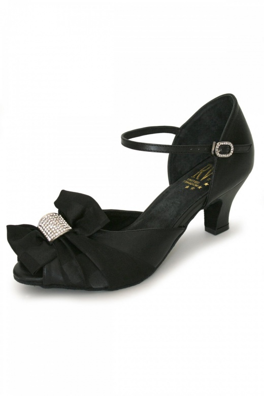 Roch Valley Ladies' Wide Fit Ballroom Shoes with Diamante Buckle