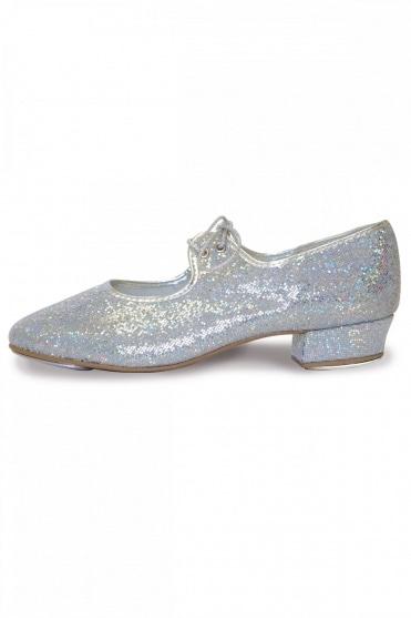 Low Heel Hologram Tap Shoes