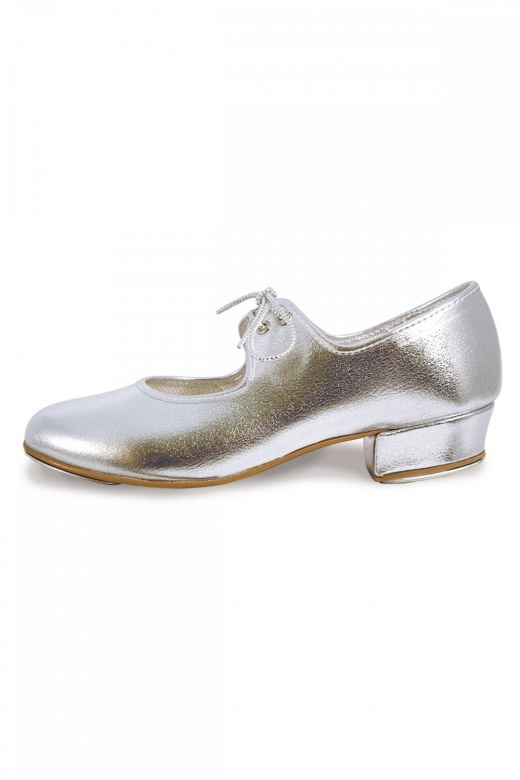 Roch Valley Low Heel Silver Tap Shoes