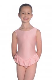 Nylon/Lycra Sleeveless Frilly Leotard