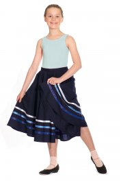 Poly-cotton Character Skirt with coloured ribbons