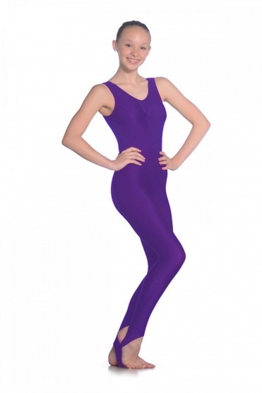 Sleeveless Ruched Front Nylon/Lycra Catsuit