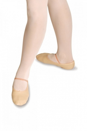 Split Sole Leather Ballet Shoes - Wide Fit
