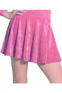 Velour Short Circular Skirt