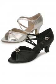 Wide Fit Ladies' Ballroom Shoes with Cross Straps