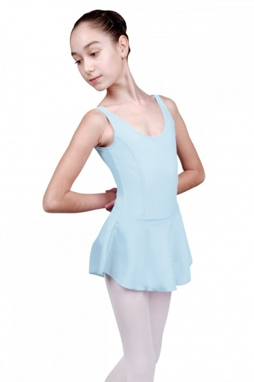 Fiona Girls' Tank Leotard with Skirt