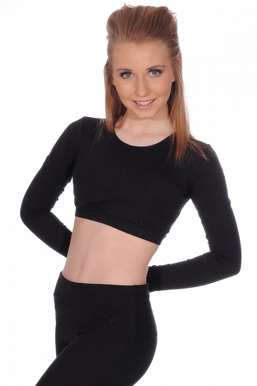 Sansha Jessica Long Sleeve Crop Top