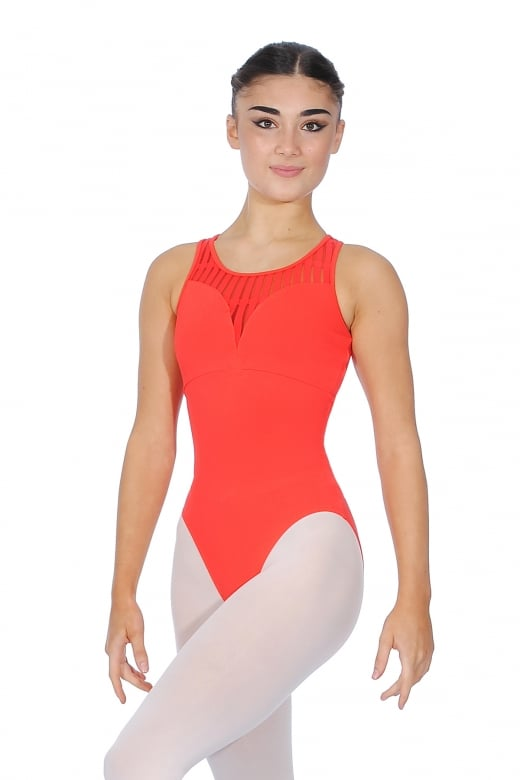 Mirella Sheer Streaks Leotard
