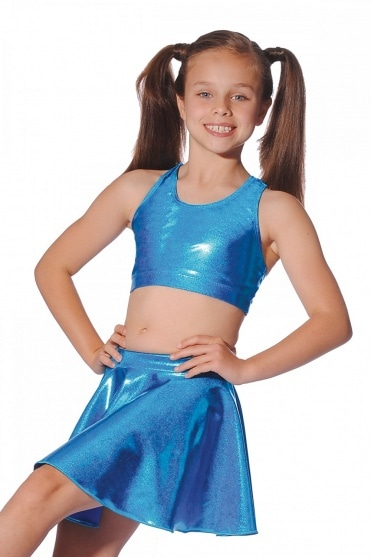 Shiny Metallic Nylon/Lycra Circular Skirt