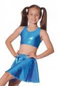 Roch Valley Shiny Metallic Nylon/Lycra Circular Skirt
