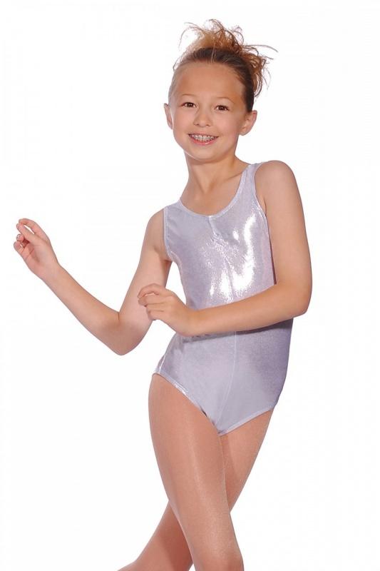 UK Metallic Shiny Girls Sleeveless Leotard Ballet Gymnastics Dance wear Costume