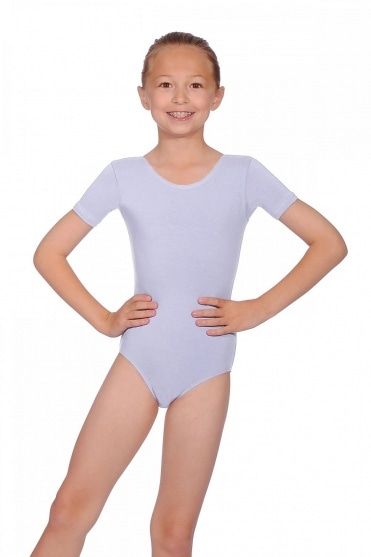 Short Sleeve Cotton Pre-Primary Leotard