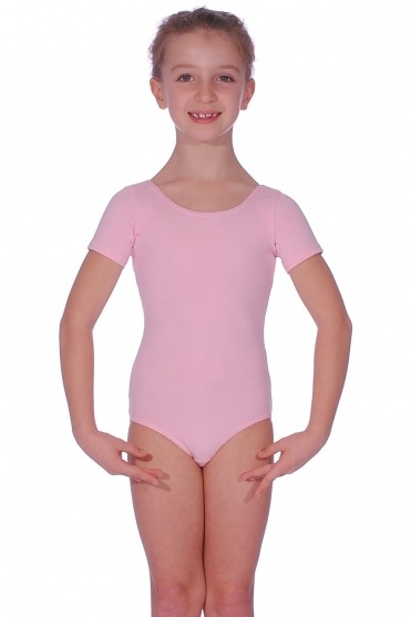 Short-Sleeved Cotton Leotard