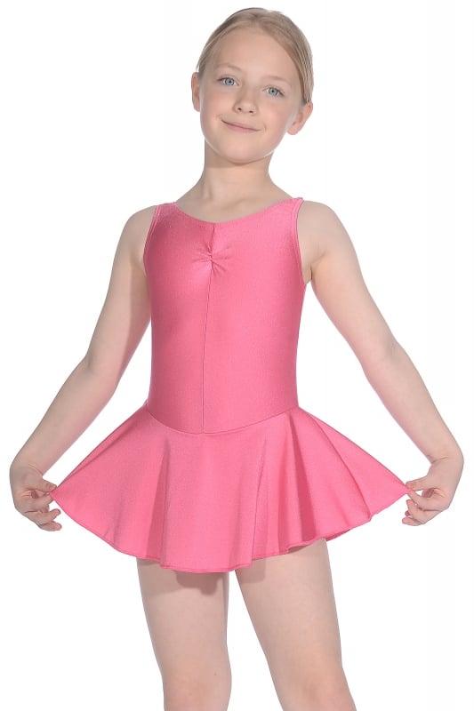 Sleeveless ISTD Junior Lycra Leotard With Skirt