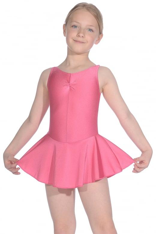 Roch Valley Sleeveless ISTD Junior Lycra Leotard With Skirt