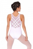 So Danca Sleeveless Leotard with Mesh Back and Cross-Over Straps