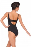 So Danca Sleeveless Striped Mesh Back Leotard