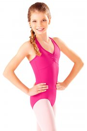 Children's Microfibre Multi Strap Diamond Back Leotard