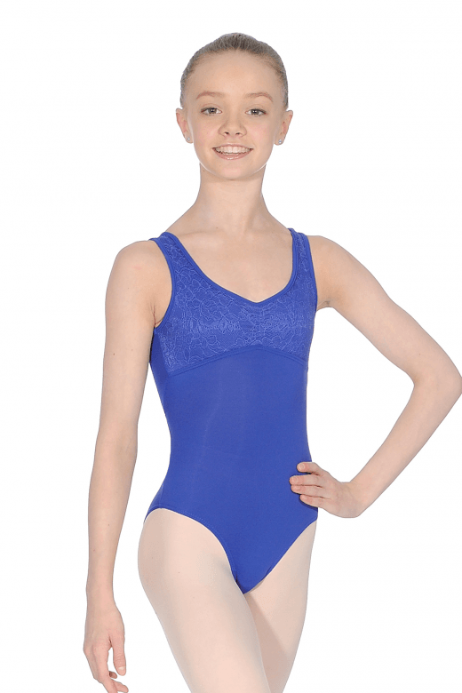 So Danca Child's Lace Neck Detail Leotard