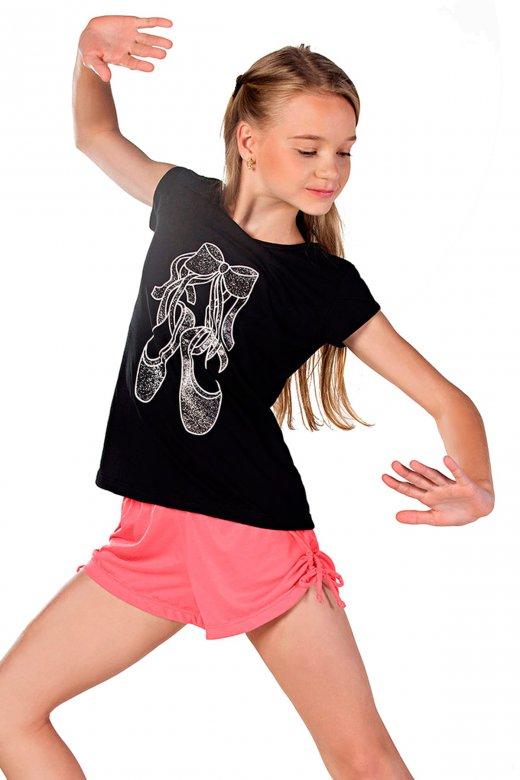 So Danca Girls' Ballet Shoes T-Shirt