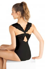 Lace Back Cap Sleeve Ladies' Leotard
