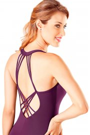 Ladies' Microfibre Multi Strap Diamond Back Leotard