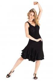 Ladies' Striped Back Ballroom Dress
