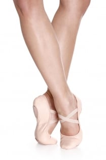 Leather Stretch Ballet Shoe