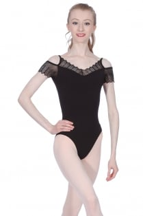 Scallop Edge Lace Leotard