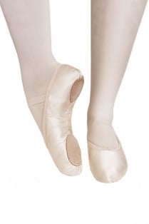 Split Sole Satin Ballet Shoes