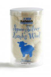 Spun Silver Lambswool