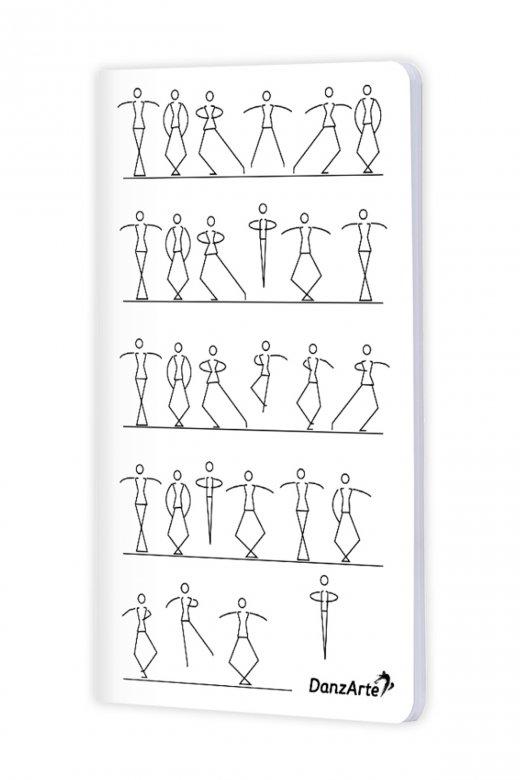 Danzarte Stick Figures Dancing A6 Notebook