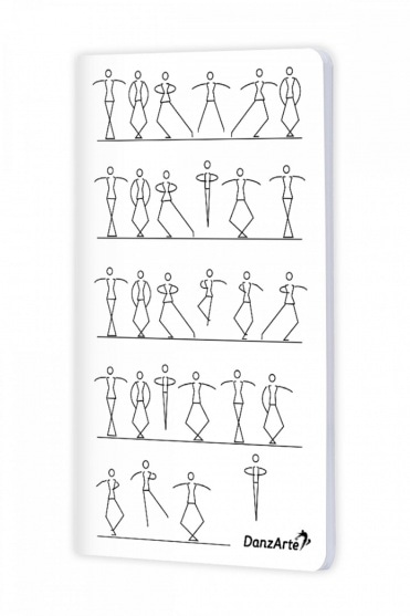Stick Figures Dancing A6 Notebook