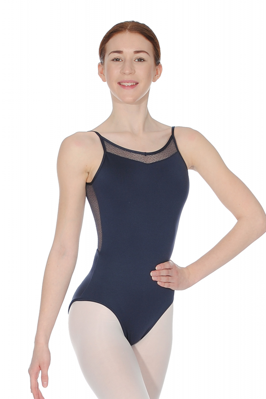 36765d3294 Capezio Straps Ladies Leotard With Lace V-Back