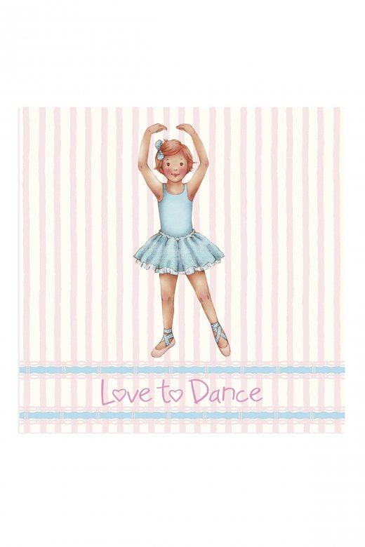 Little Ballerina Stripe Isla Greetings Card
