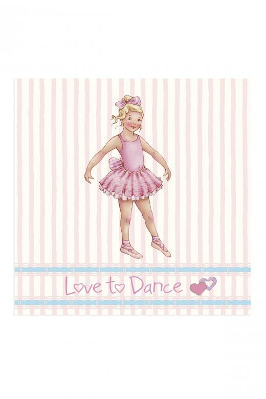 Little Ballerina Stripe Melissa Greetings Card