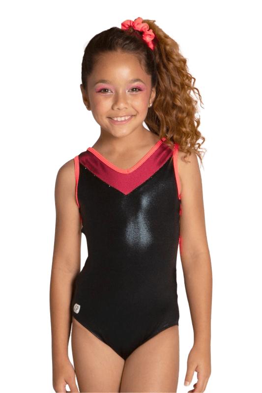 d992a048b72308 Sylvia P Open Back Black Gymnastics Leotard | Women/Girls (I-WICKED)