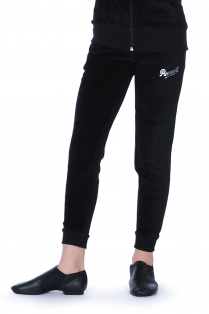 Velour Slim Leg Trackie Pants