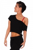 Papillon Wide Neck Crop Top